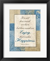 Enjoy Happiness Framed Print
