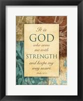 God Arms Framed Print