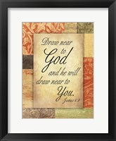 Draw God Framed Print
