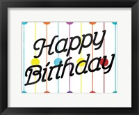 Happy Birthday Dots Framed Print