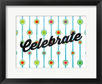 Celebrate Dots Framed Print
