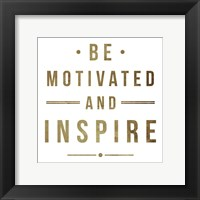 Motivate Gold Two Framed Print