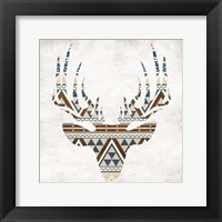 Aztec Deer No Background Framed Print