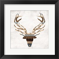 Aztec Deer Mate Framed Print