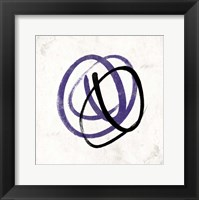 Abstract Circle Mate Purple Framed Print