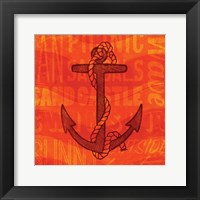 Summer Bright Anchor Framed Print