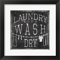 Framed Chalkboard Laundry
