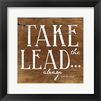 Take the Lead Framed Print