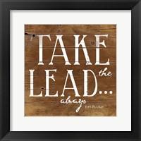 Take the Lead Framed Print