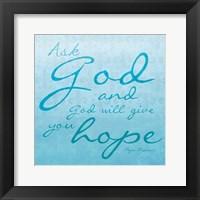 God Hope Framed Print
