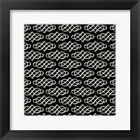 Vintage Pattern Reverse Framed Print