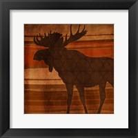 Moose Stripes Framed Print