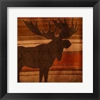 Moose Stripes Mate Framed Print