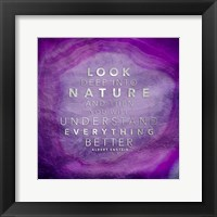 Look Nature Framed Print