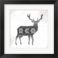 Deer Patterns Framed Print