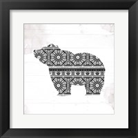 Bear Patterns Framed Print