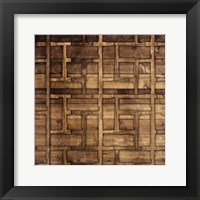 Wood Chip Pattern Framed Print