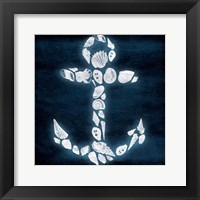 Framed Shell Anchor Deep Blue