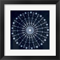 Circular Shibori Framed Print