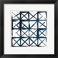 Framed Box Blue Lines