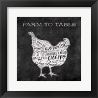 Framed Farm To Chicken