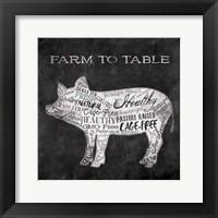 Farm To Pig Framed Print