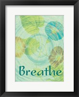 Breathe Flora Framed Print