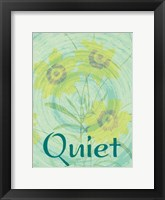 Quiet Flora Framed Print