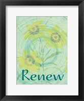 Renew Flora Framed Print