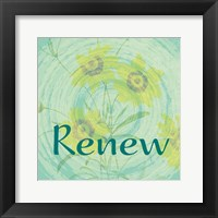 Renew Framed Print