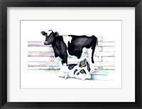 Framed Big Moo Lil Moo