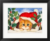Framed Christmas Kitten