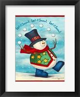 Let It Snow I Framed Print