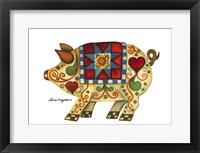 Framed Festive Pig