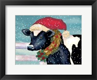 Christmas Cow Framed Print