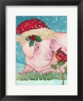 Sir Christmas Pig Framed Print