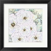 Framed White Water Flowers 1