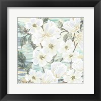 White Water Flowers 2 Framed Print