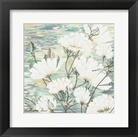 Framed White Water Flower 3
