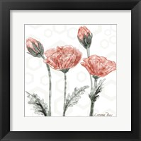 Poppy Umbrella Framed Print