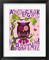 Owl Set Numlet Pinks 1 Framed Print
