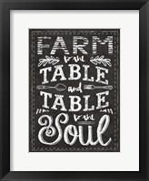 Farm Chalkboard 1 Framed Print