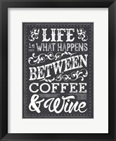 Chalk Coffee Wine Framed Print