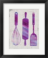 Kitchen Watercolor Brights Ragged 05 Framed Print