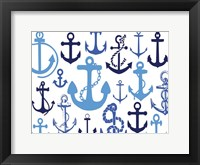 Anchor Blues 1 Framed Print