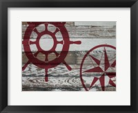 Coastal Nautical 02 Framed Print