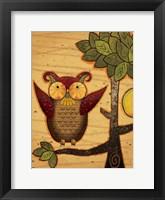 Texture Owls 02 Framed Print