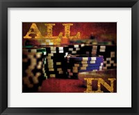 All In Casino Grunge 4 Framed Print
