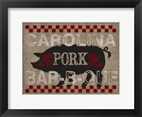 Carolina Pork BBQ Framed Print