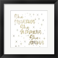 Glimmer Pair 01 Framed Print